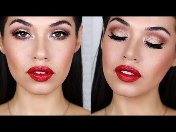 Scarlett Johansson Inspired Holiday Makeup | Holiday Party Drugstore Makeup Tutorial | Eman