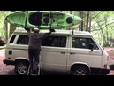 VW Syncro Vanagon with Thule Hulivator Kayak Canoe Lift Rack