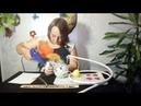 МАСТЕР-КЛАСС.Роза-светильник из гофробумаги своими руками.1 часть.