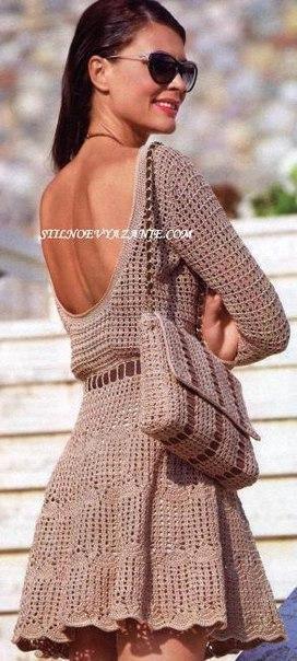 Красивое платье и сумочка на лето. Вяжем крючком