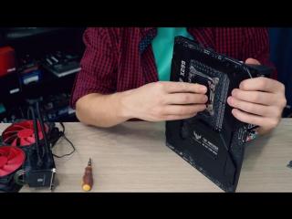 PRO Hi-Tech ASUS TUF X299 и опыт установки охлаждения на кристалл CPU без Skylake-X Direct-D