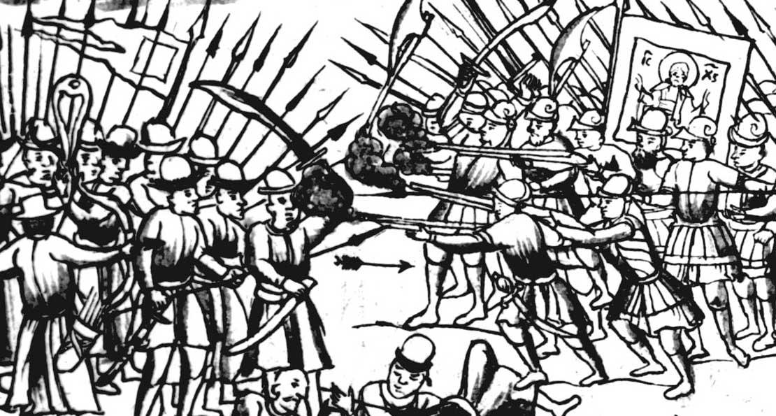 Бой с московитами