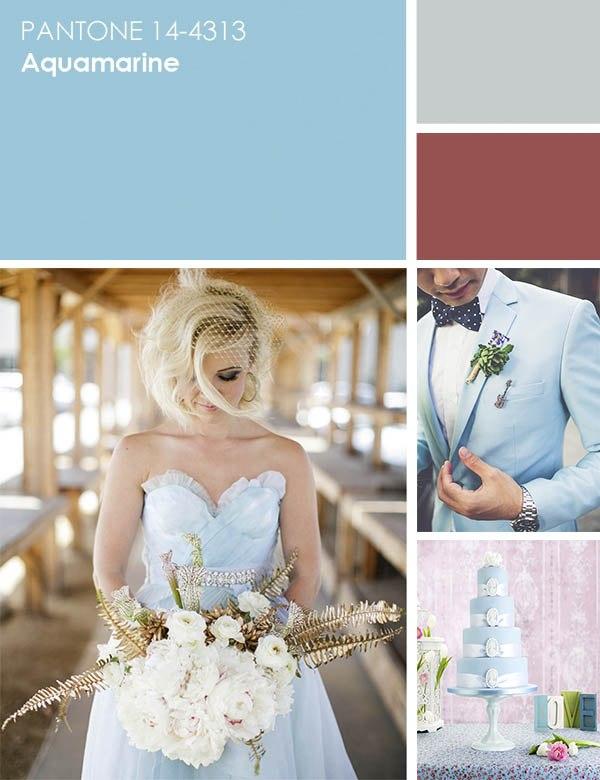 цвет свадьбы - аквамарин
