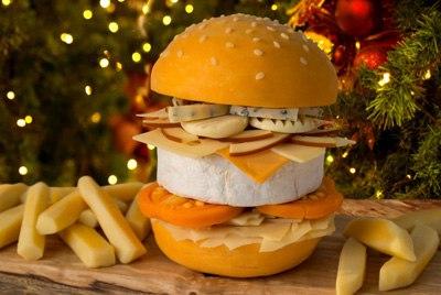 Чизбургер, полностью сделанный из