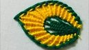 Hand Embroidery new leaf design by nakshi design art