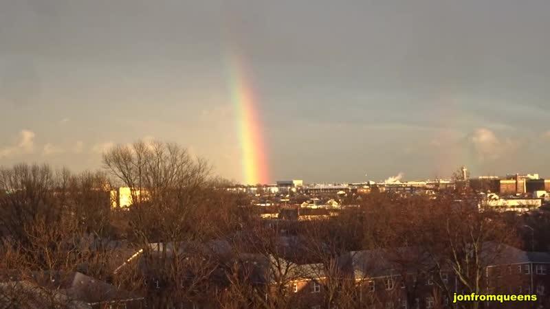 2019 Giant Rainbow over JFK Airport 24 jan Thanks jonfromqueens