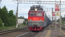 Электровоз ВЛ10 896 с контейнерным поездом станция Кресты 7 06 2018