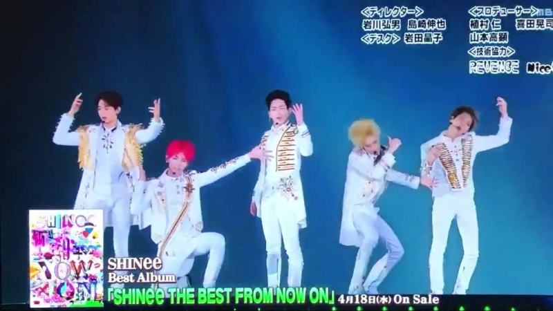 ENTではエンディングに初東京ドームのEverybody映像が流れたのでした SHINee Best Album SHINee THE BEST FROM NOW ON