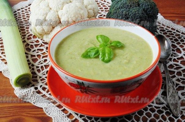 суп пюре из брокколи капусты