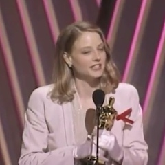 Jodie Foster wins best actress for her role in Silence of the Lambs