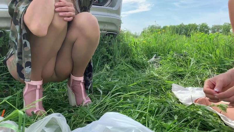 Ksenia and Marina in sheer pantyhose Happy Summer