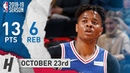 Markelle Fultz Full Highlights 76ers vs Pistons 2018.10.23 - 13 Pts, 6 Reb!