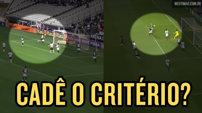 Lances iguais, medidas diferentes - Gol do Atlético-MG já foi anulado quando Corinthians fez