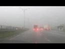 Трасса Е 95 Одесса Киев проливной дождь и град