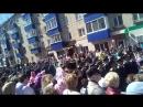 Парад в Менделеевске. В параде учавствуют казаки хутора