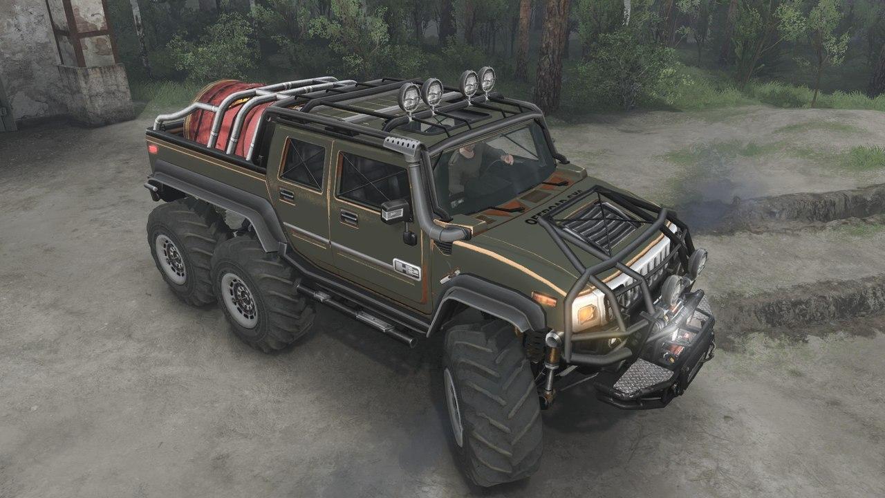 HUMMER H2 Diesel (6x6) для 03.03.16 для Spintires - Скриншот 2