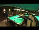 Два шара в одну лузу в исполнении Павла. Удар-дельфин в партии по невской пирамиде, русский бильярд - YouTube 360p