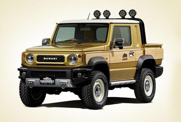 Новый Suzui Jimny: теперь пикап и внедорожник для выживания в глуши Компания Suzui привезет на автосалон в Токио два прототипа, которые построены на базе внедорожника Jimny нового поколения.