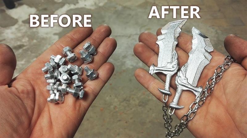 Turn Aluminum Bolts Into Mini Blades Of Chaos God Of War