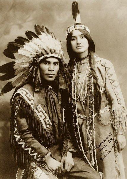 Пара северо-американских индейцев, 1912 г.