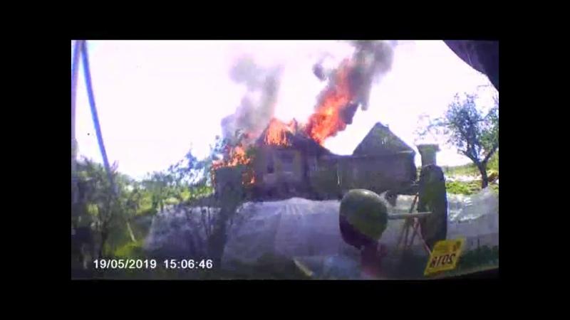 Полоцкий район, пожар дома 19 05 2019