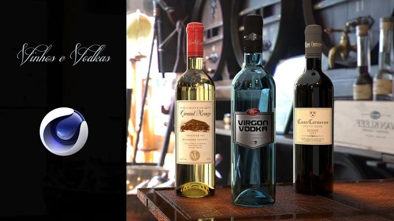 0162. Cinema 4D Tutorial - Vinhos e Vodkas (Vidros e Líquidos)