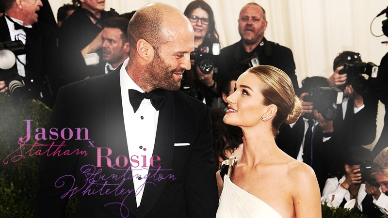 Rosie Huntington-Whiteley Jason Stathams First Date Night as Parents | E! News (RUS SUB)