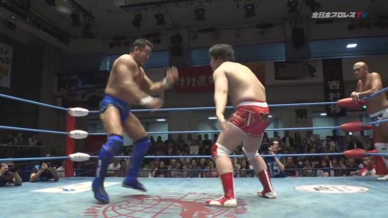 Jun Akiyama, Yuji Nagata (c) vs. Naoya Nomura, Yuma Aoyagi (AJPW - Dynamite Series 2018 - Day 1)