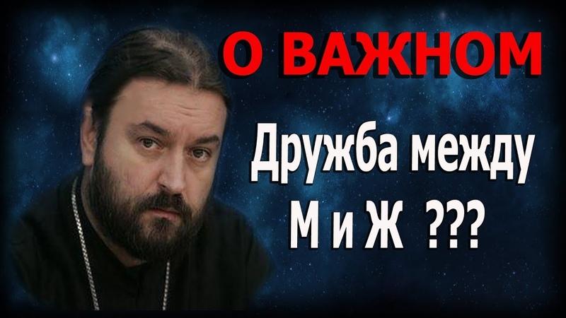 Дружба между мужчиной и женщиной? Сказать себе правду! Протоиерей Андрей Ткачёв