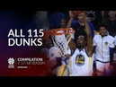 Kevin Durant All 115 dunks of the 2017/18 season