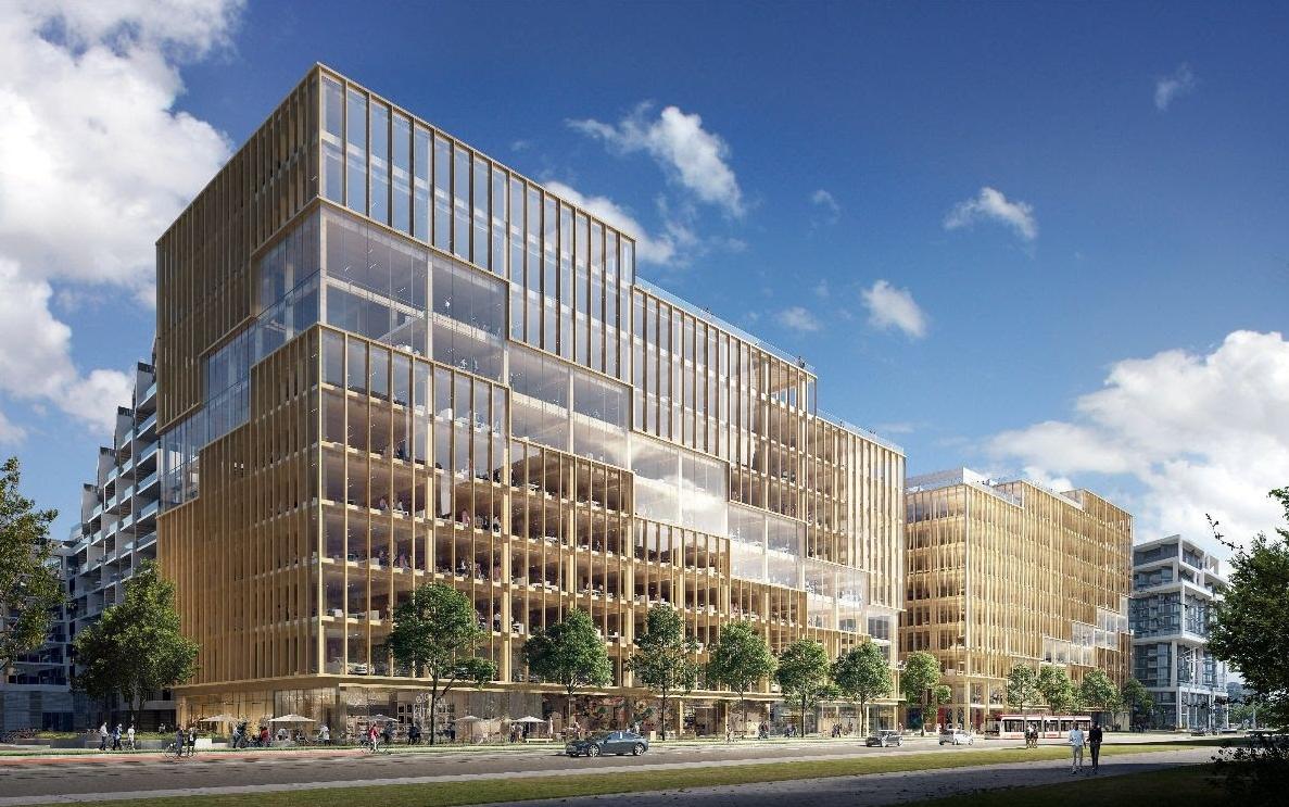 Проект деревянного офисного здания T3 Bayside в Канаде