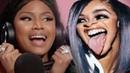 Nicki Minaj gets Triggered by Cardi B