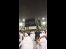 19 августа в Мекке شاهد قوة الرياح الهابطه تزيل ستار الكعبة المشرفة في يوم الترويه الاحد