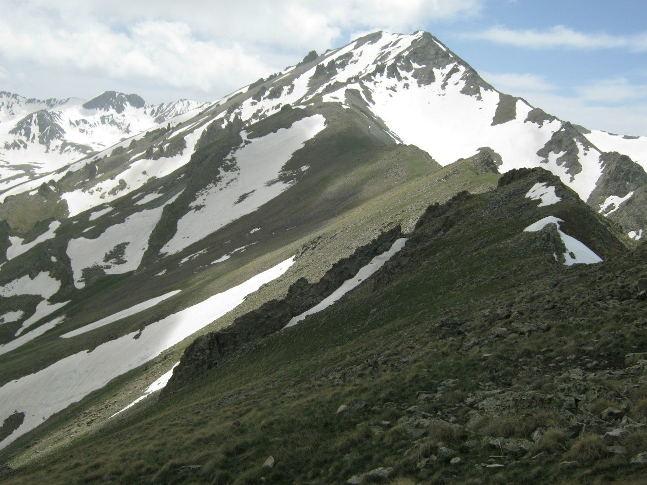 хребет горы Капуджух