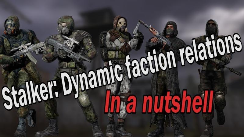 Stalker: Dynamic faction relations mod in a nutshell