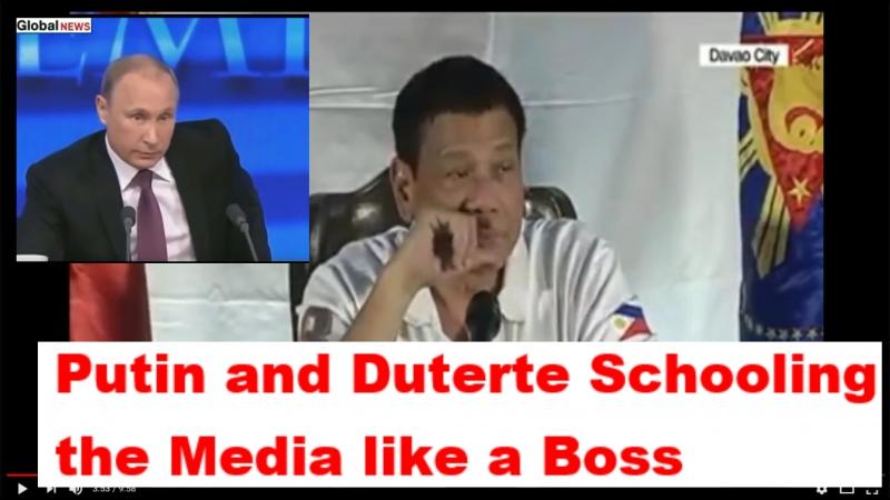 Putin and Duterte Schooling the Media like a Boss