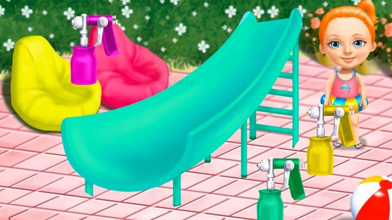 Sweet Baby Girl Cleanup 4 - Play Messy House Makeover - Fun Cleaning Games For Girls By TutoTOONS