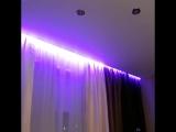 Безумная красота   Светодиодная подсветка ниши под карниз на натяжном потолке