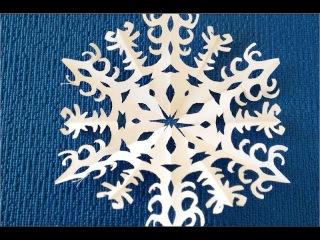 DIY. Новогодняя Ажурная Снежинка. ✽ Как пошагово Вырезать Снежинку из бумаги.✽