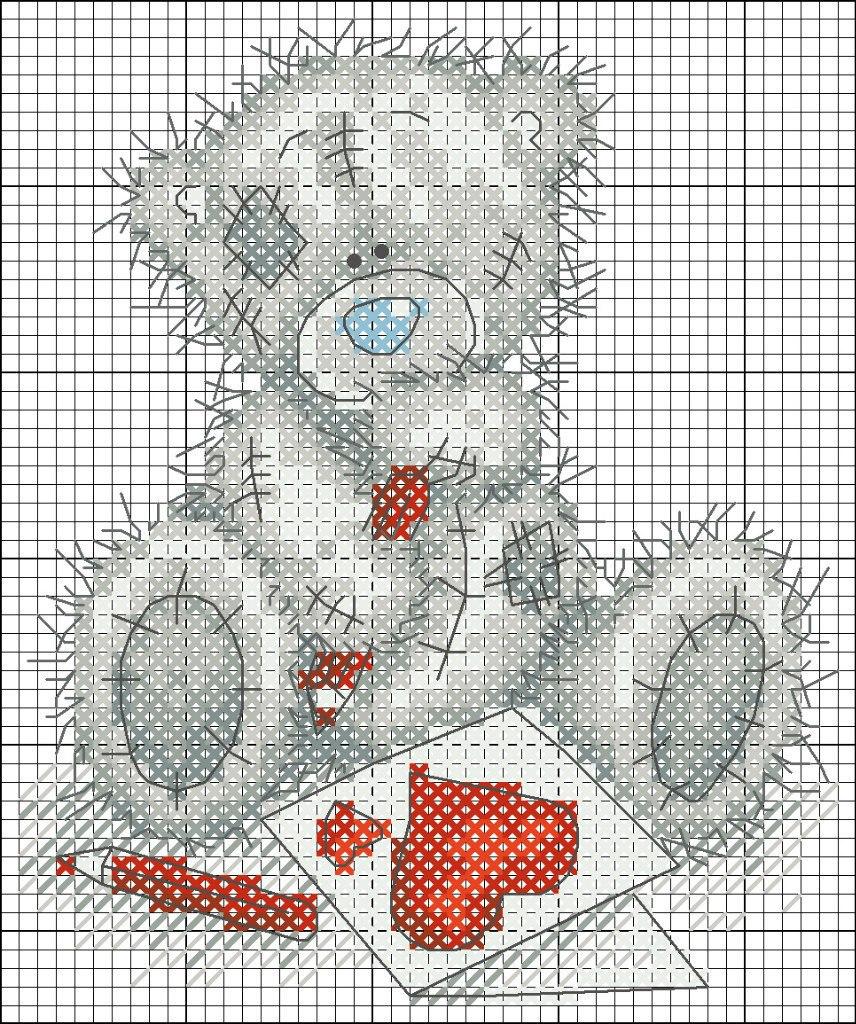 Вышивка медвежонок тедди схемы Вышивка крестиком. Мишки Teddy Вишивка хрестиком