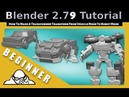 How to transform from vehicle mode to robot mode In Blender 2.79