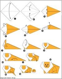 Схема оригами лев.