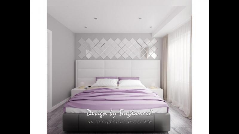 Обзор дизайн-проекта спальни 7,6 м.кв., Череповец