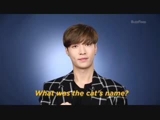 интервьюер: как звали кота? Исин: сорри, я просто называл его Котом
