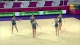 Bulgaria. 2016 European Rhythmic Gymnastics Championships. EF. Clubs + Hoops