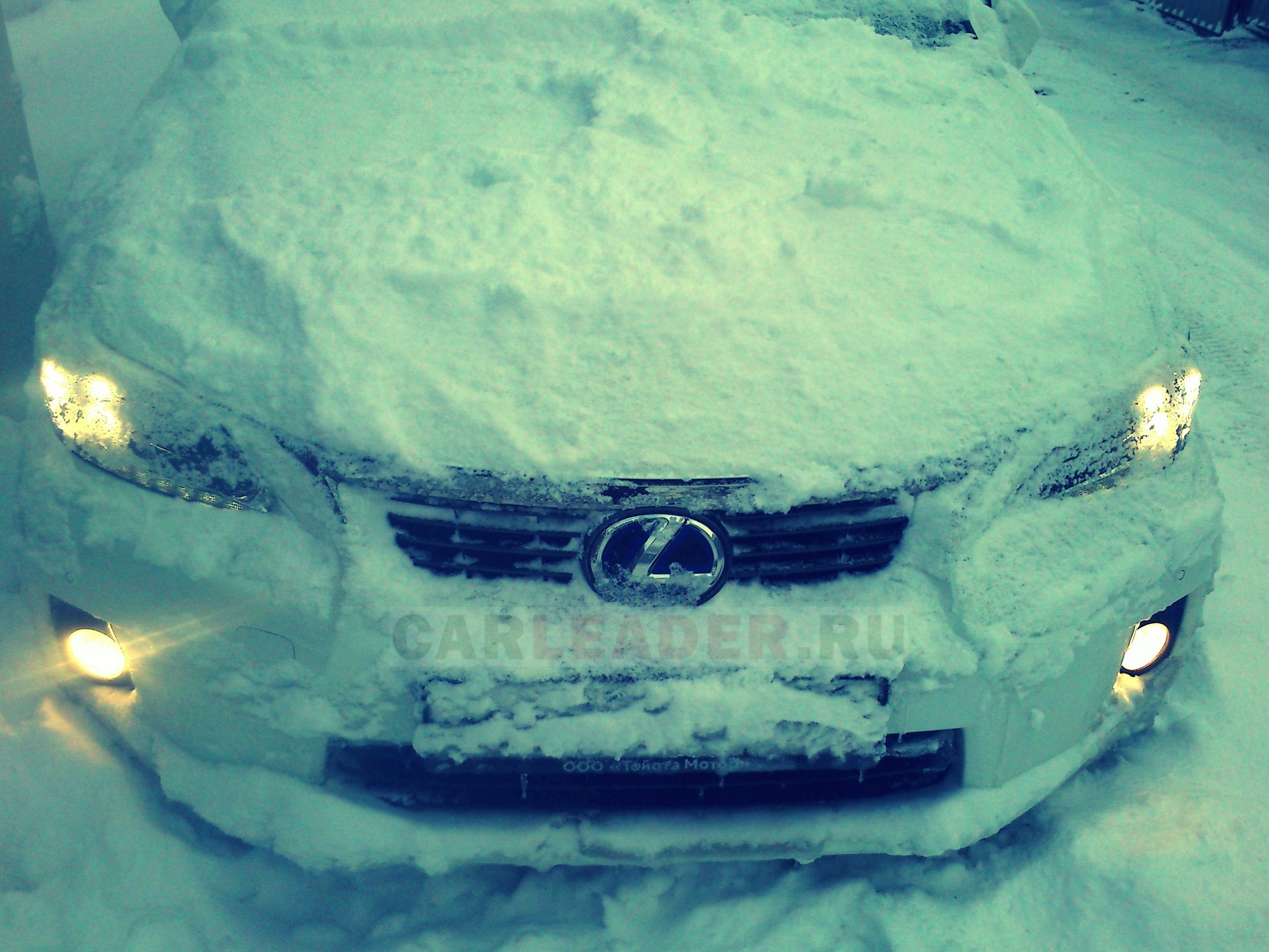 Lexus at russian winter