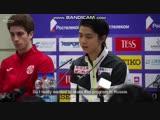 Yuzuru Hanyu Rostelecom Cup FS press-conference (Olympic Channel)
