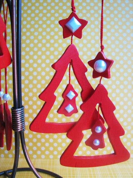 Українські новорічні листівки  ялинками