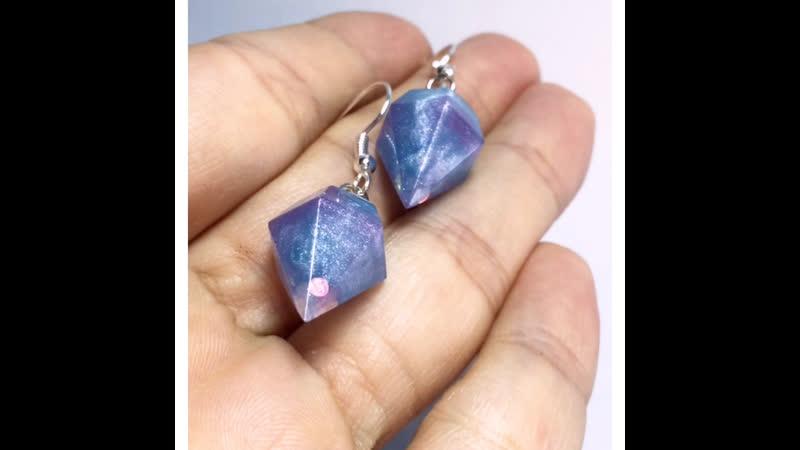 Серьги кристаллы