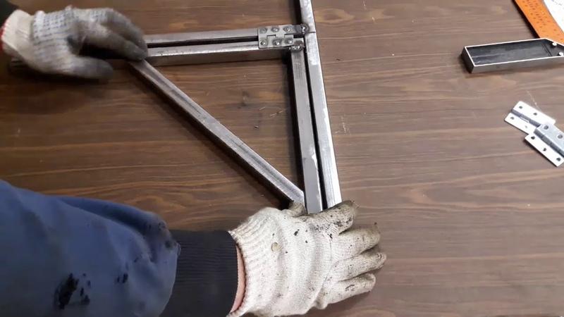 Самоделка для гаража своими руками стол трансформер Home made for garage folding table